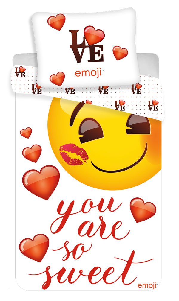 JERRY FABRICS Povlečení Emoji You are so sweet