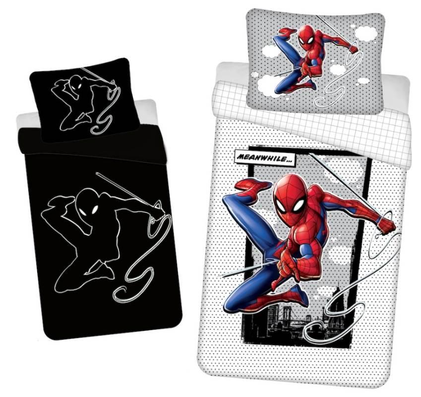 JERRY FABRICS Povlečení Spiderman 02 svítící Bavlna, 140/200, 70/90 cm