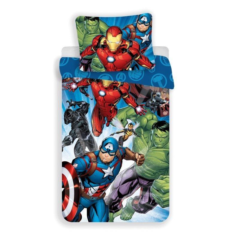 JERRY FABRICS Povlečení Avengers Brands 02 Bavlna, 140/200, 70/90 cm
