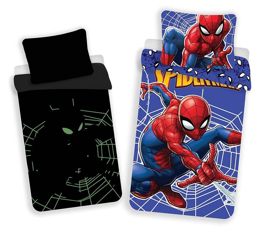 JERRY FABRICS Povlečení Spiderman svítící  Bavlna, 140/200, 70/90 cm