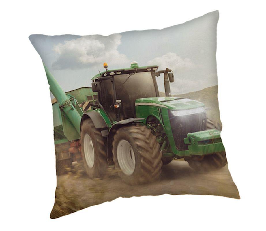 JERRY FABRICS Polštářek Traktor green  Polyester, 40/40 cm