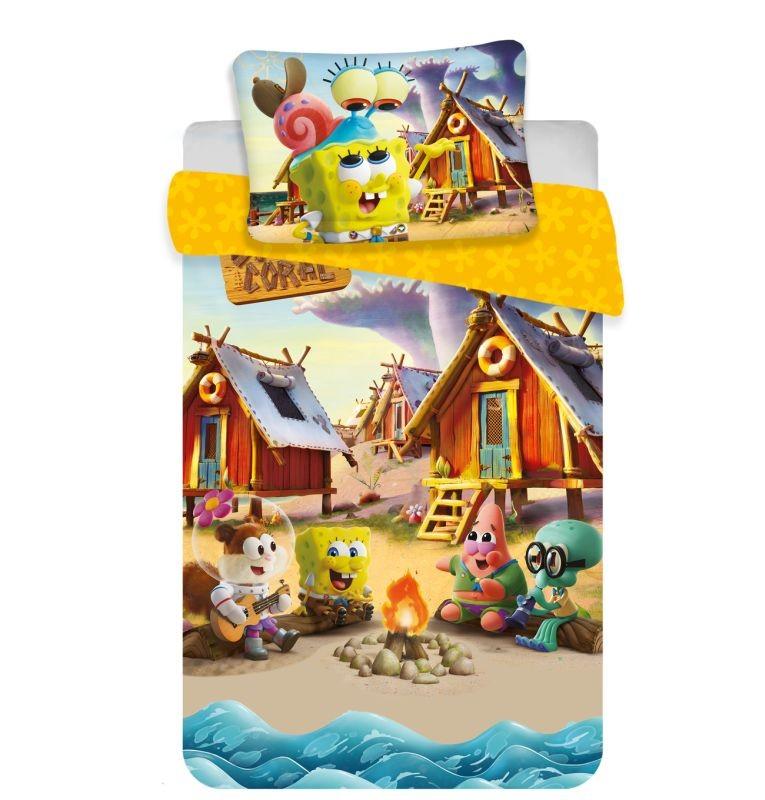 JERRY FABRICS Povlečení do postýlky Sponge Bob baby  Bavlna, 100/135, 40/60 cm
