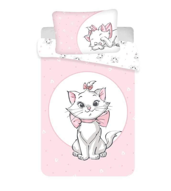 JERRY FABRICS Povlečení do postýlky Kočička Marie like pink baby  Bavlna, 100/135, 40/60 cm