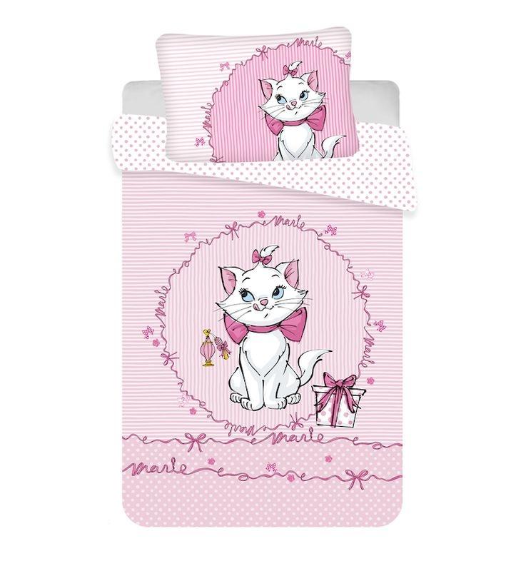 JERRY FABRICS Povlečení do postýlky Kočička Marie Pink baby  Bavlna, 100/135, 40/60 cm