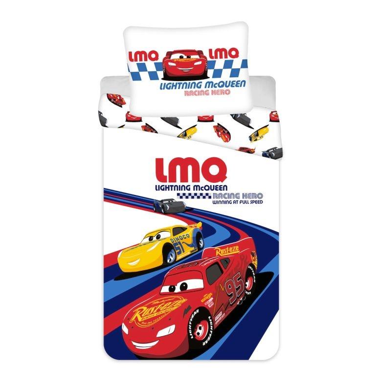 JERRY FABRICS Povlečení do postýlky Cars Racing Hero baby  Bavlna, 100/135, 40/60 cm
