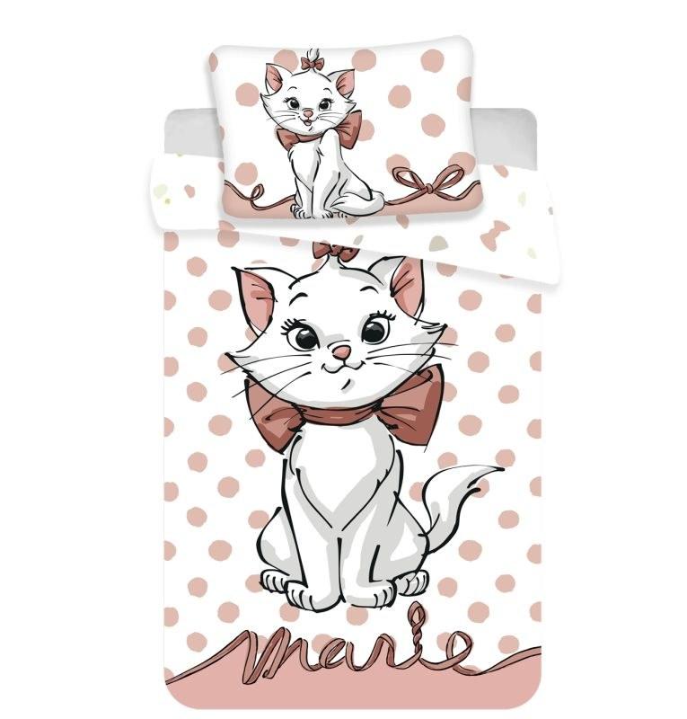 JERRY FABRICS Povlečení do postýlky Kočička Marie dots 02 baby Bavlna, 100/135, 40/60 cm
