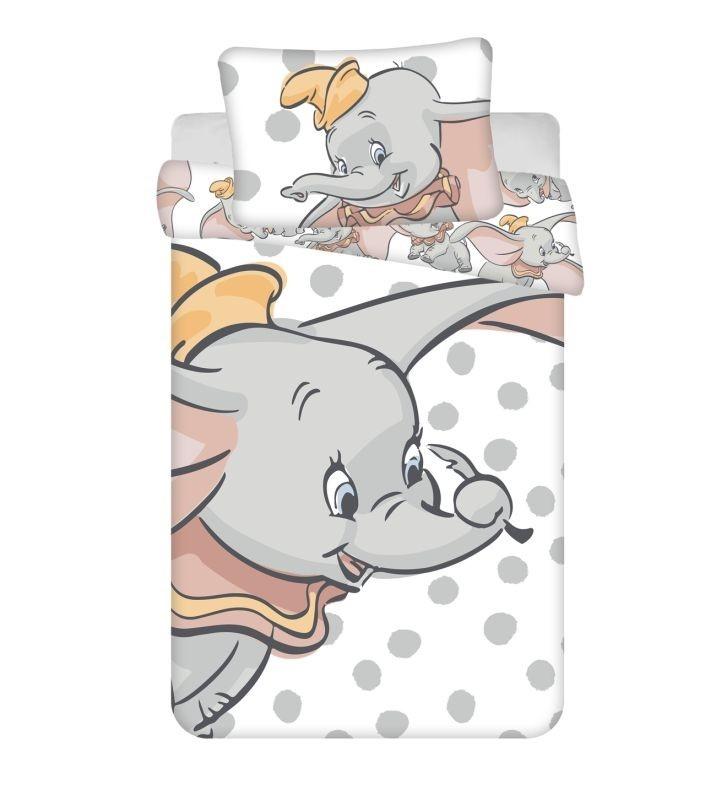JERRY FABRICS Povlečení do postýlky Dumbo dots baby  Bavlna, 100/135, 40/60 cm
