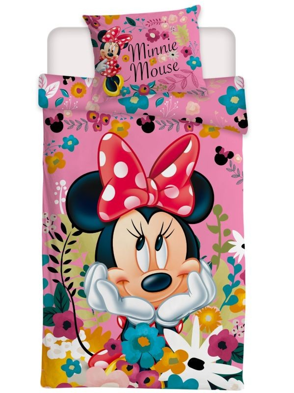 Povlečení Minnie Blossoms micro 140/200, 70/90
