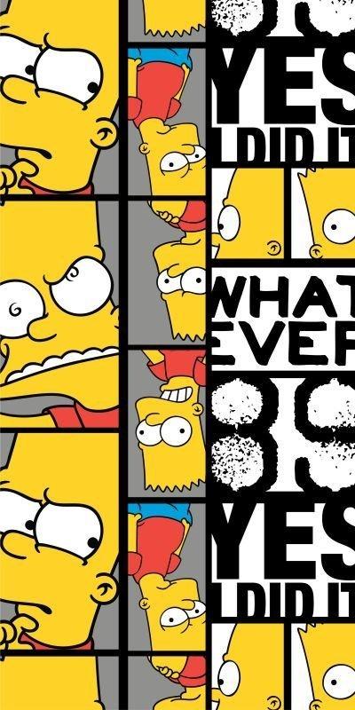 Osuška Bart Simpson 89 70/140