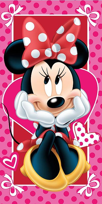 Osuška Minnie hearts 02 70/140