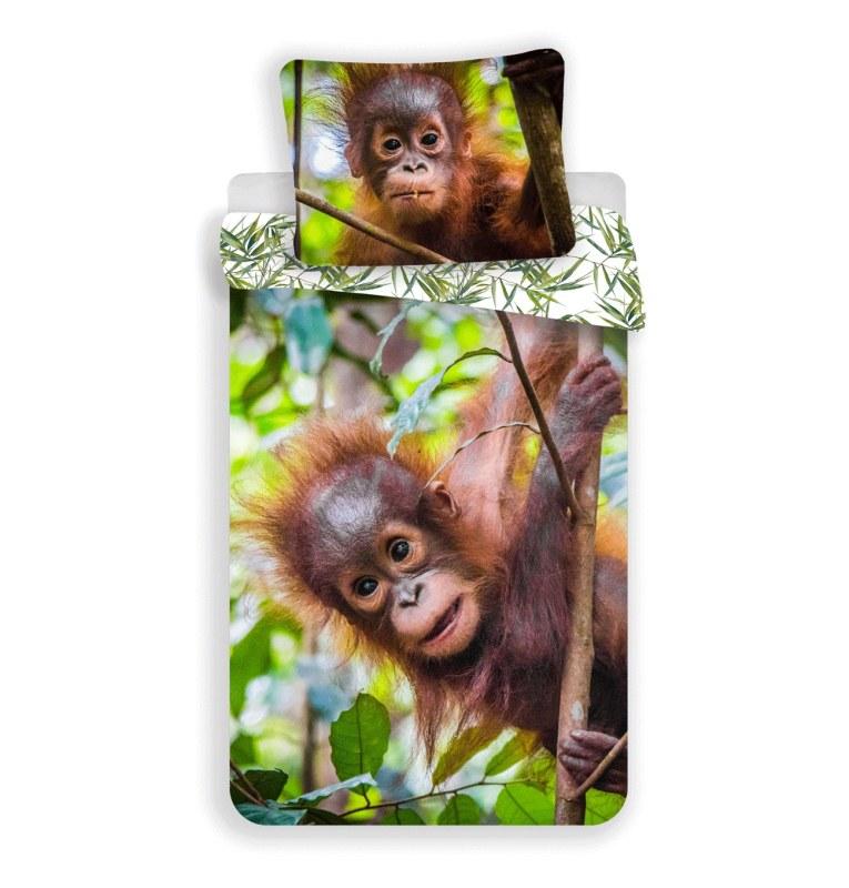 JERRY FABRICS Povlečení Orangutan 02 Bavlna, 140/200, 70/90 cm