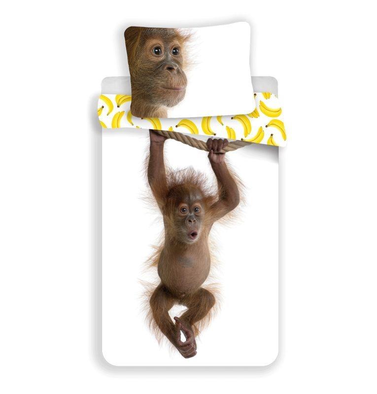JERRY FABRICS Povlečení Orangutan  Bavlna, 140/200, 70/90 cm