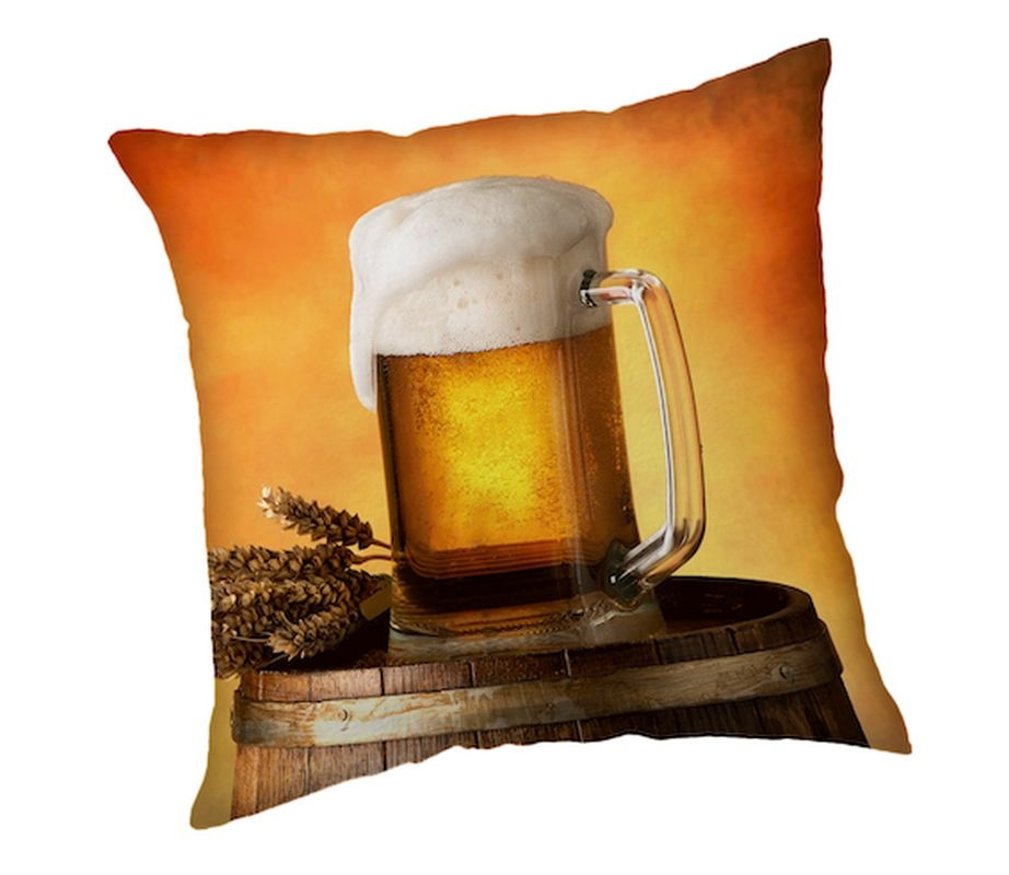 JERRY FABRICS Povlak na polštářek Pivo  Polyester, 40/40 cm