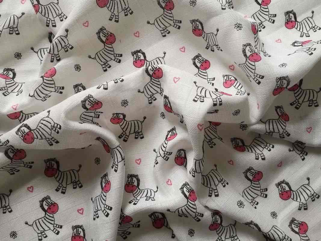 Bavlněná tetra osuška Zebra růžová 90/100