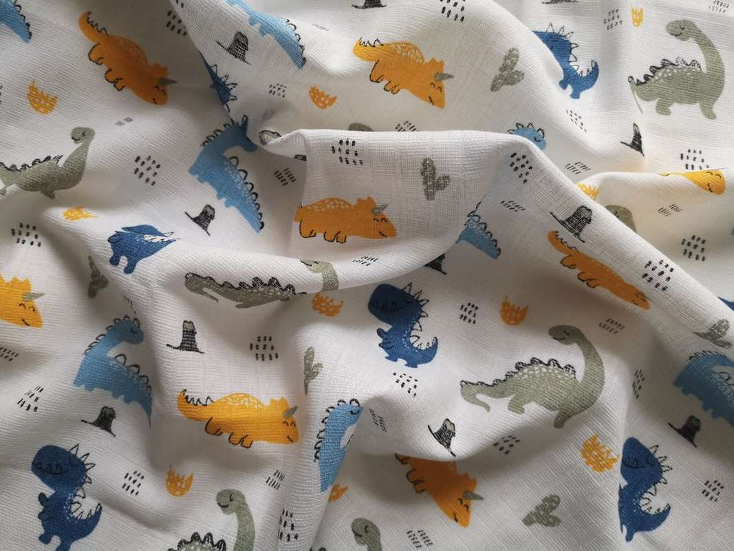 PREM Bavlněná tetra osuška Dinosaurus  Bavlna, 90/100 cm