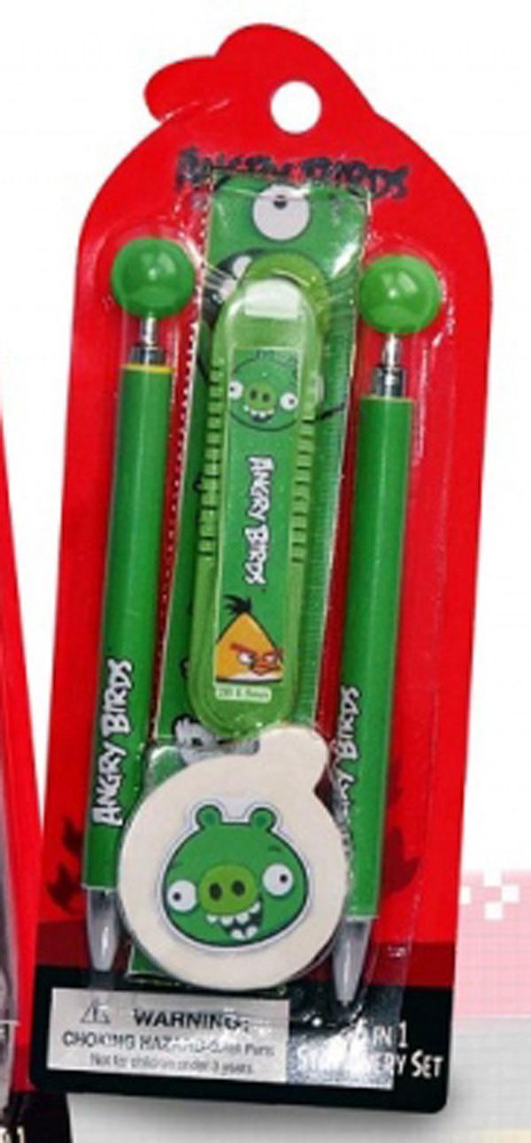 Sada psacích potřeb Angry Birds zelená (školní potřeby)