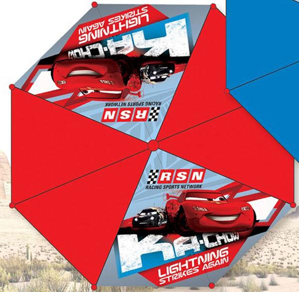 Vystřelovací deštník Cars červená