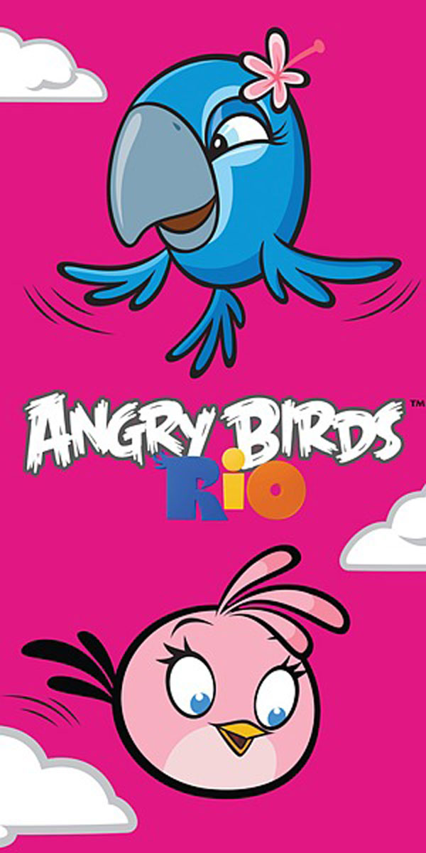 Osuška Angry Birds Rio Stella a Perla 70/140 (dětský ručník, plážová osuška Angry Birds)