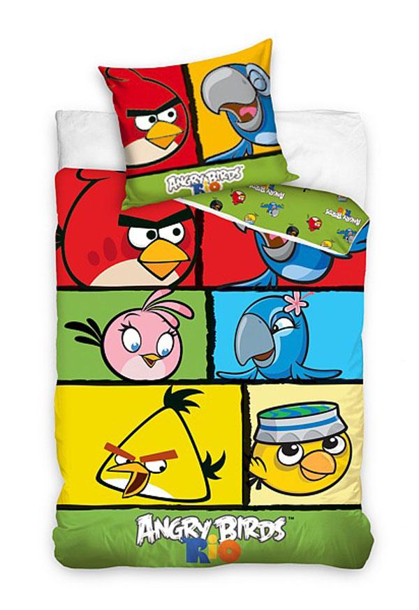 Povlečení Angry Birds Rio kostky 140/200 - Povlečení licenční