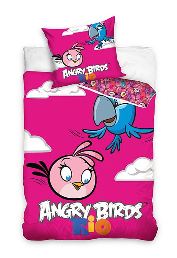 Povlečení Angry Birds Rio Stella a Perla 140/200 (dětské ložní povlečení Angry Birds)