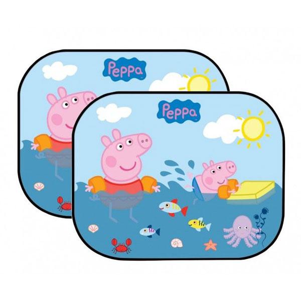 Sluneční clona Prasátko Peppa Pig 2 ks (stínítko do auta)