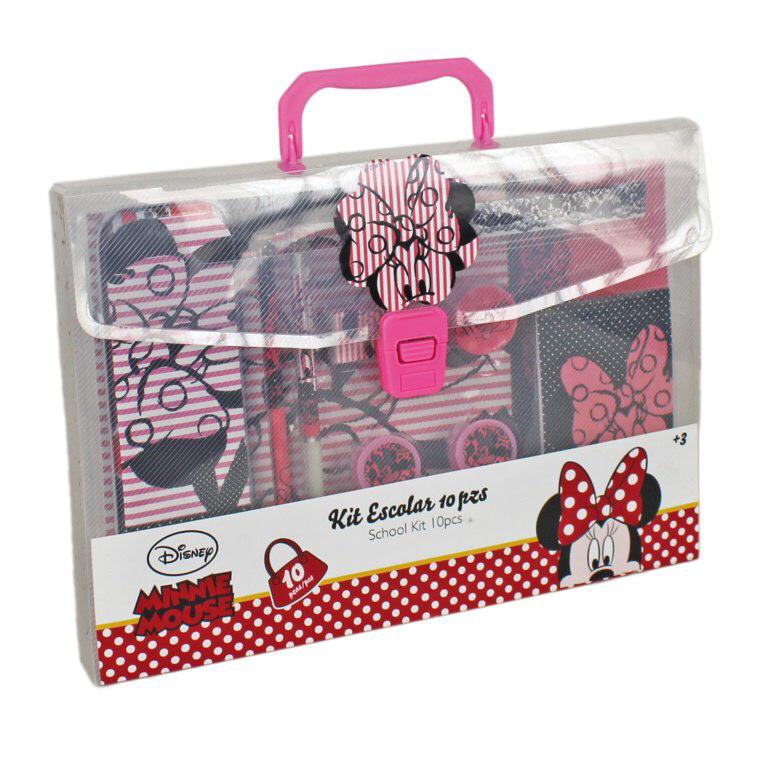 Psací potřeby Minnie Mouse v kufříku | Do školy a školky tužky, pastelky
