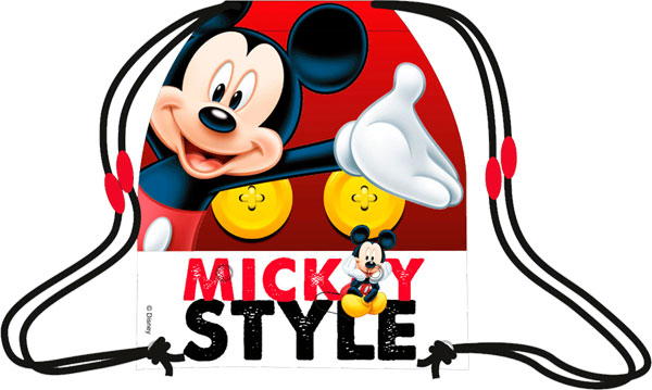 Taška na tělocvik a přezůvky Mickey 41 cm (dětský sáček na přezůvky)