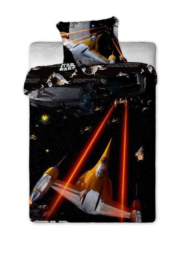 Povlečení Star Wars spaceships 140/200 (ložní povlečení, dětské povlečení Star Wars)