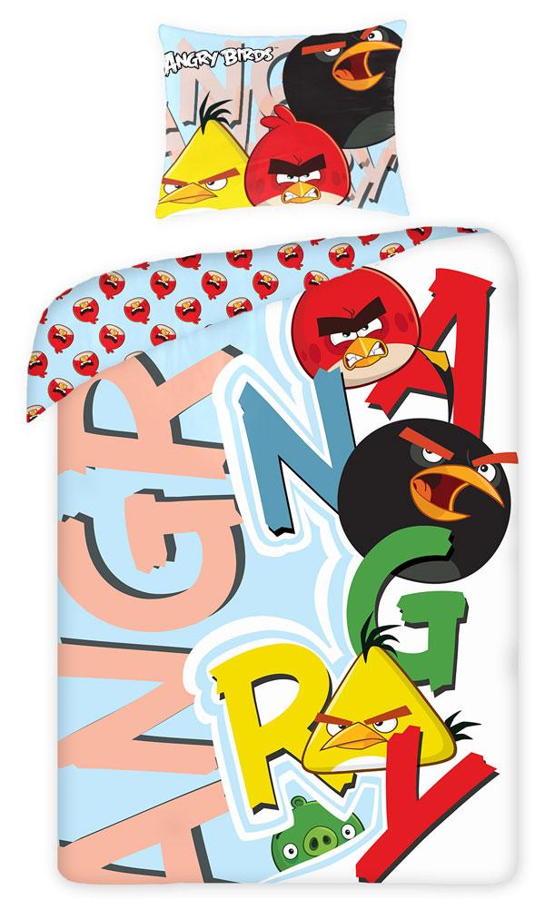 Povlečení Angry Birds písmena 140/200 (ložní povlečení, dětské povlečení Angry Birds)