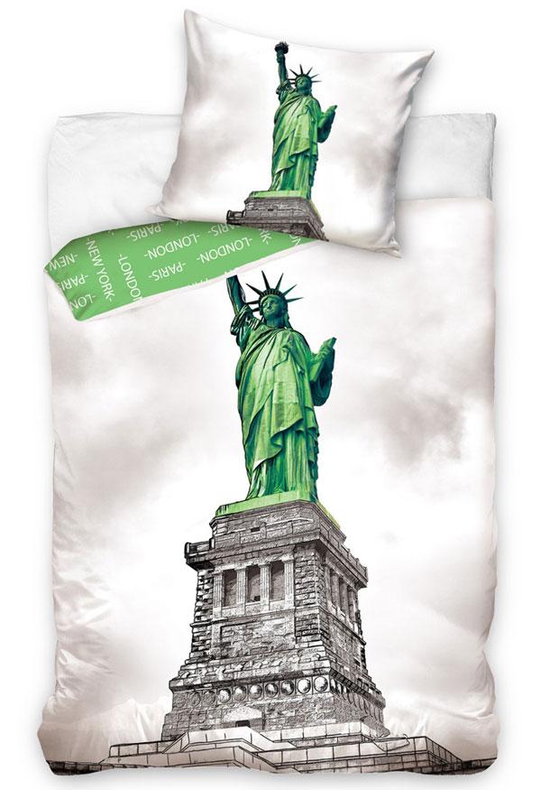Povlečení New York Socha Svobody 140/200 (ložní povlečení, dětské povlečení New York)
