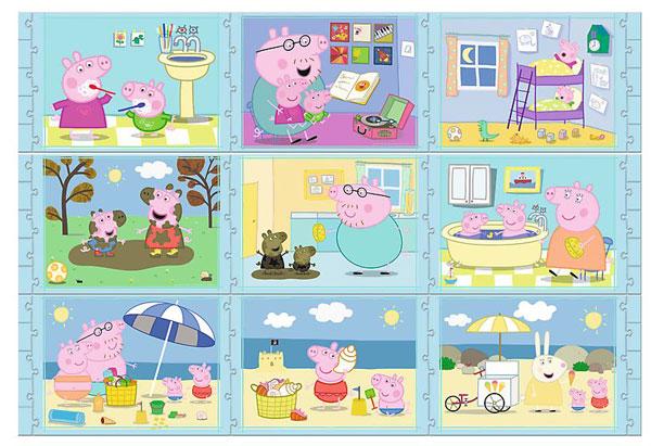 Velké Puzzle Peppa Pig 9v1 (puzzle)