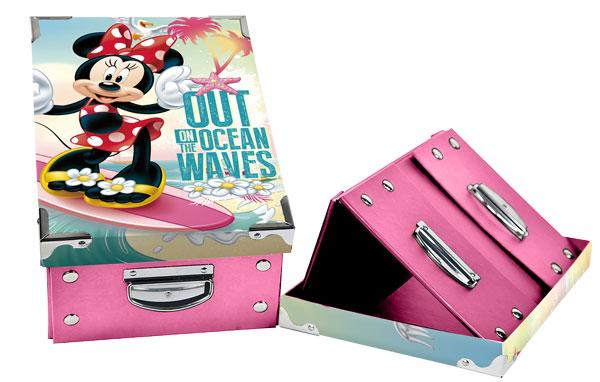 Úložný skládací box Minnie oceán (box na výtvarné potřeby Minnie)