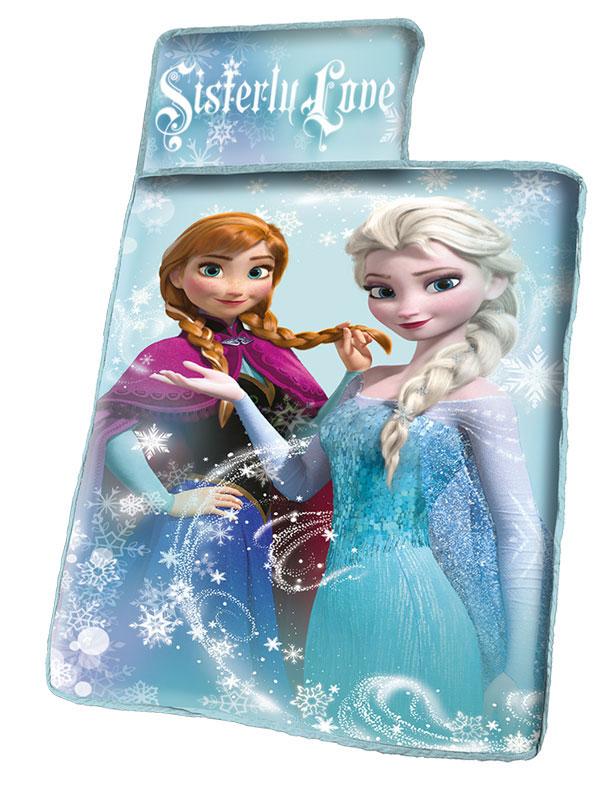 Spací set Ledové Království 127/55 (dětská podložka s polštářkem a dečkou Frozen)