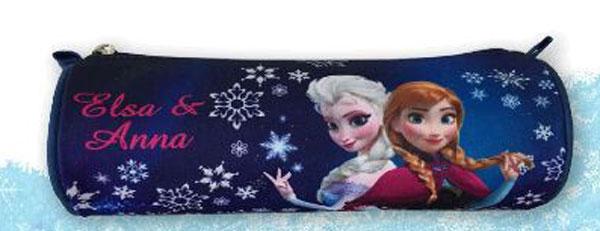 Kulatý penál Ledové Království sestry 21 cm (dětské kulaté pouzdro se zipem Frozen)