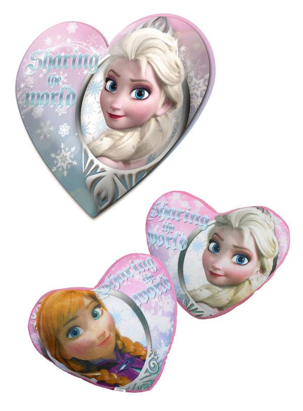 Polštářek srdce Ledové Království 40 cm (dětský polštářek Frozen)