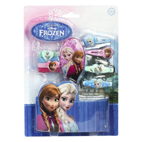 Sada vlasových doplňků Ledové Království na kartě