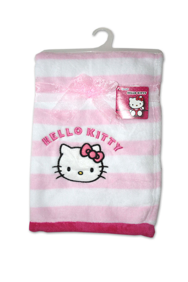 Micropolar fleece deka Hello Kitty růžovobílá 76/102
