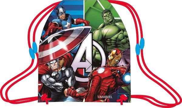 Taška na tělocvik a přezůvky Avengers 41 cm (dětský sáček na přezůvky)