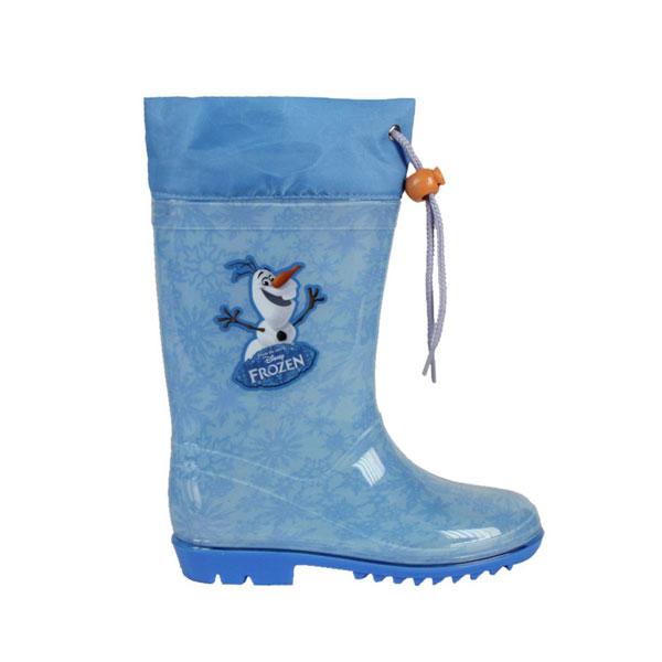Holínky Ledové Království OLAF 29 (Dětské holiny Frozen s pevnou podrážkou s vysokým vzorkem, kvalitní PVC materiál, límec se zavazováním na šňůrku, ve velikosti 29)