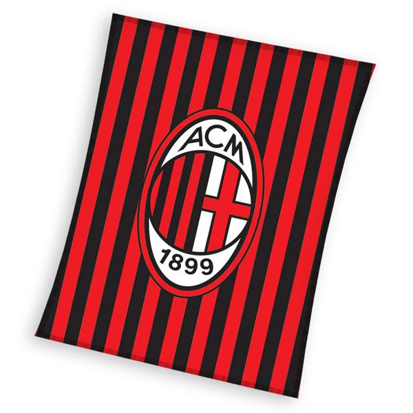 Fleece deka AC Milán pruhy 110/140