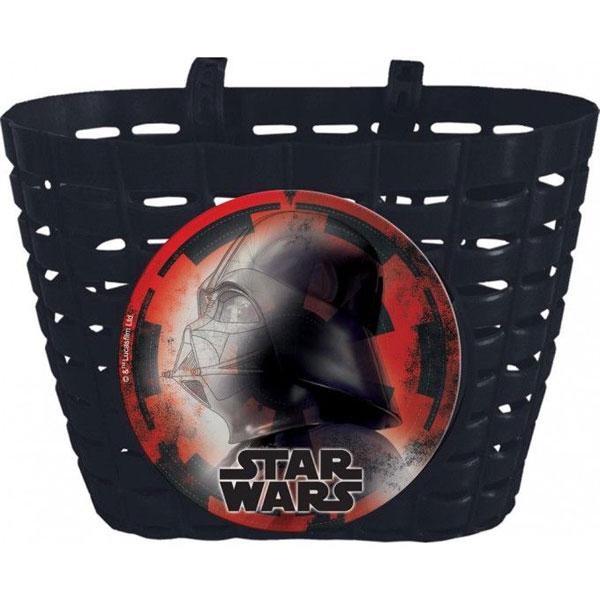 Košík na kolo Star Wars (Plastový košík na řidítka na důležité drobnosti malých cyklistů a cyklistek.)