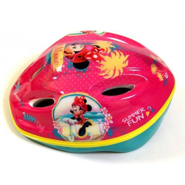 Cyklistická přilba Minnie Mouse (Bezpečnostní helma pro děti na kolo či brusle ochrání dětskou hlavu před úrazem, certifikace)