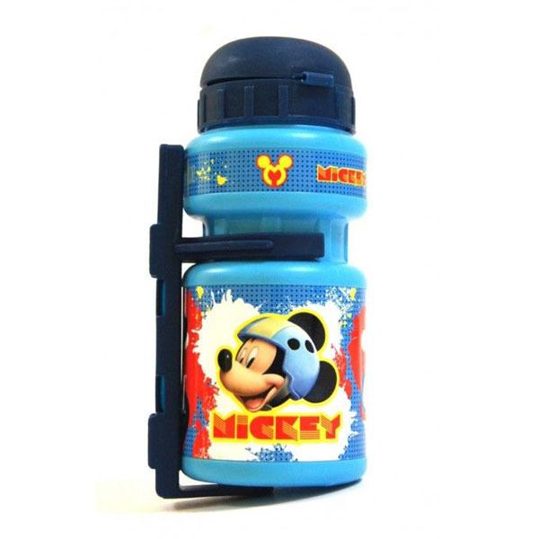 Cyklo láhev na pití Mickey Mouse (Cyklo láhev na pití Frozen plastová, objem 350 ml, s montážním setem pro připevnění na kolo)
