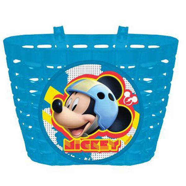 Košík na kolo Mickey Mouse (Cyklistický koš na řídítka pro kolo i odrážedlo, variabilní uchycení, plastový ohebný, lze umývat vodou)