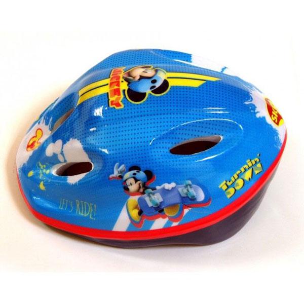 Cyklistická přilba Mickey Mouse (Bezpečnostní helma pro děti na kolo či brusle ochrání dětskou hlavu před úrazem, certifikace)