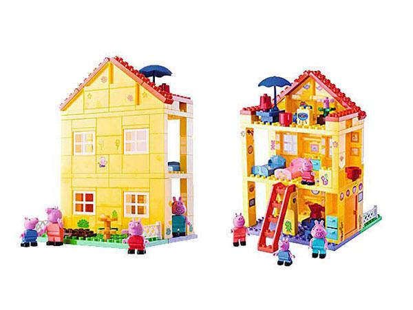 Domeček Prasátko Peppa (Stavebnice PlayBIG BLOXX Prasátko Pepina, domeček s vybavením a figurkami)