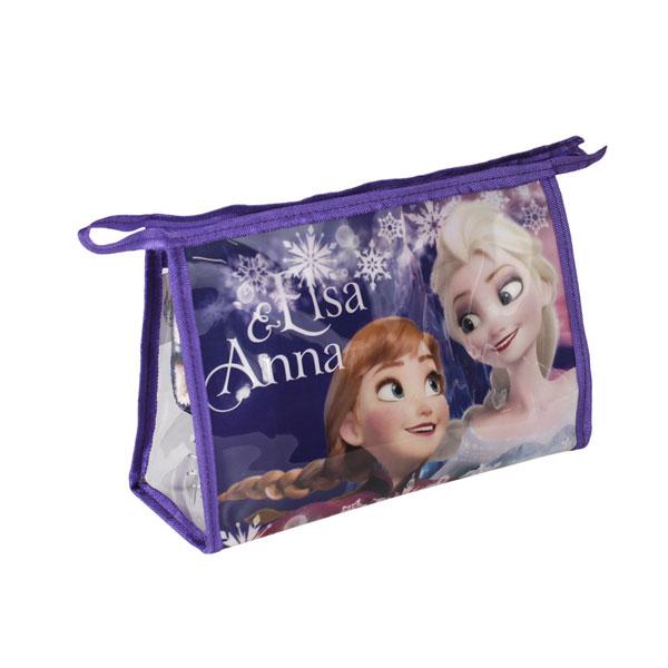 Kosmetická vybavená taška Ledové Království Anna a Elsa vločky (taštička Frozen)