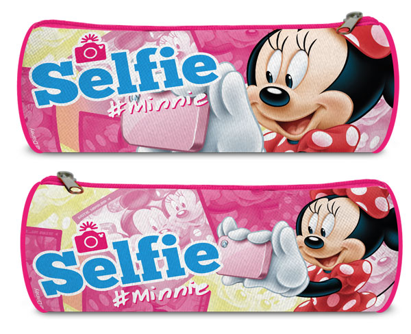 Kulatý penál Minnie Selfie