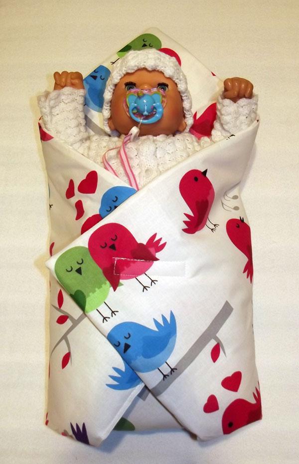 Rychlozavinovačka pro panenky Ptáčci bílá