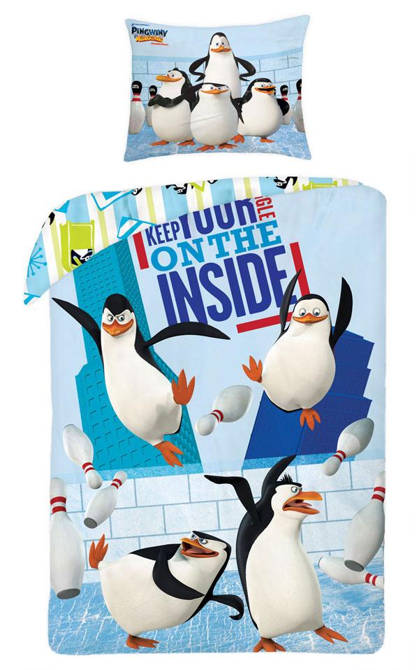 Povlečení Tučňáci z Madagaskaru Inside 140/200